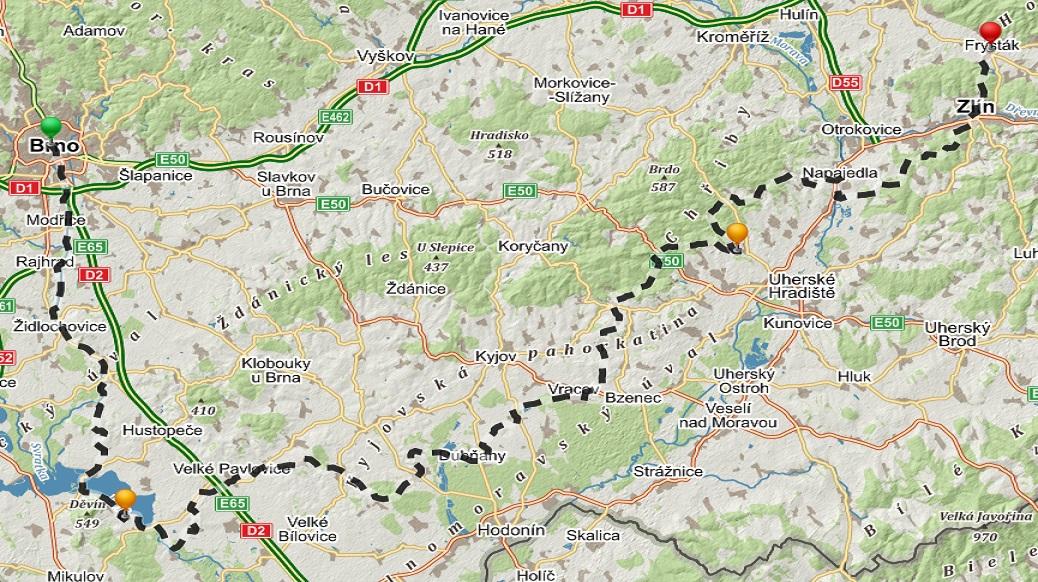 mapa roztahnuta